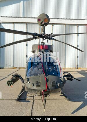 Kiowa Warrior OH-58D helicopter OH58D HRZ Croatian Air Force Zemunik near Zadar public display front frontal view - Stock Image