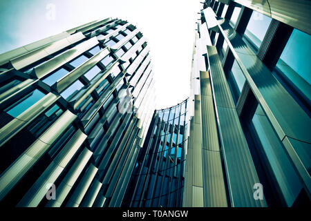 Main Point Pankrac office building in the Pankrác city skyscrapers area in Prague, Czech Republic - Stock Image