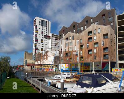 Ipswich Dockland development West end - Stock Image