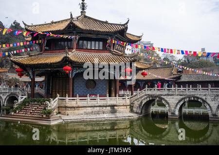 Yuantong Temple, Kunming, Yunnan, China - Stock Image