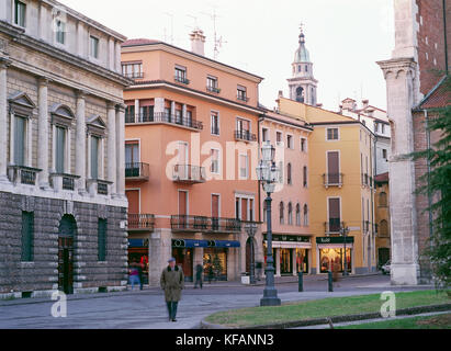 Vicenza Cathedral Square - Stock Image