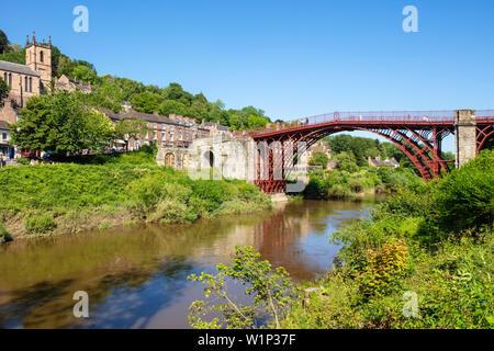 Ironbridge bridge ironbridge gorge Iron bridge Shropshire england GB UK europe - Stock Image