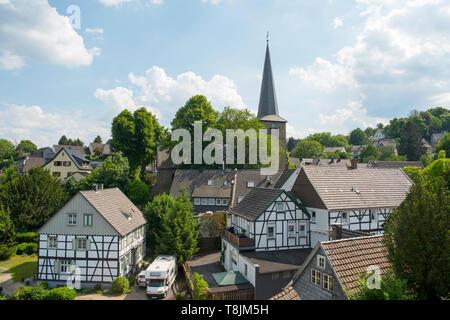 Deutschland, Nordrhein-Westfalen, Wetter (Ruhr), Volmarstein, Fachwerkhäuser - Stock Image