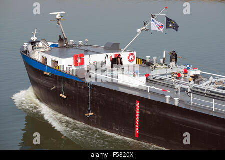 Rhine tanker Fint, Cologne, Germany. - Stock Image