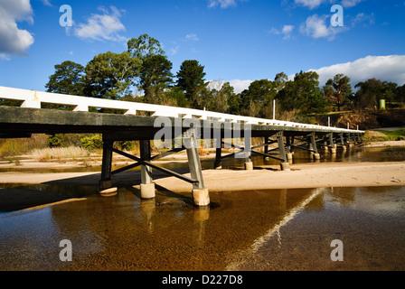 TOWAMBA, Australia - River over the Towamba River, Towamba, New South Wales, Australia - Stock Image