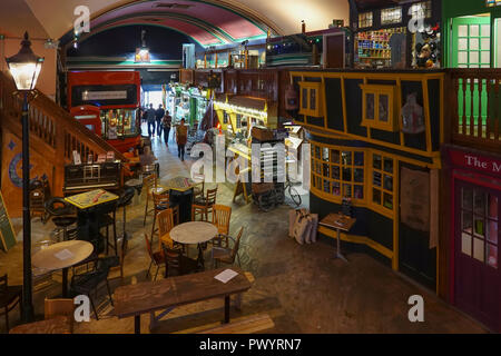 The Old Kent Market,Food,Bar,Antiques,Novelties,Gifts,The Parade,Margate,Thanet,Kent - Stock Image