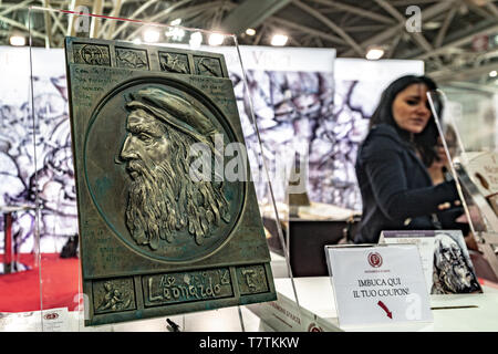 Turin, Italy. 09th May, 2019. Italy Piedmont Turin Lingotto fair -  International Book Fair in Turin - Leonardo da Vinci Credit: Realy Easy Star/Alamy Live News - Stock Image