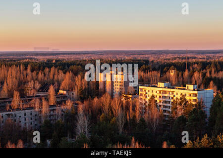 In Pripyat, Ukraine, inside the Chernobyl Exclusion Zone - Stock Image