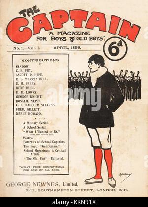 1899 The Captain Boy's Magazine No. 1 Edition - Stock Image