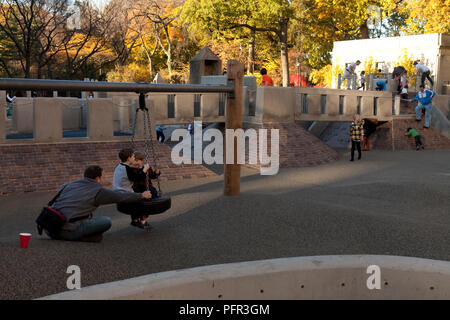 USA, New York, New York/Manhattan, Central Park, Ancient Playground. - Stock Image