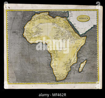 1804 Arrowsmith Map - Africa Continent Egypt Congo Angola Capetown - Stock Image