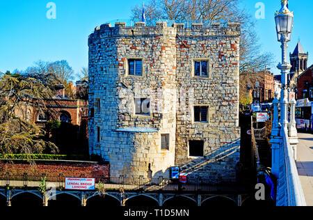 The Lendal Tower, York, England - Stock Image