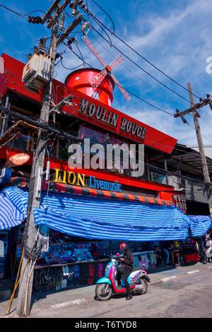 Walking street, nightlife street, Thanon Bangla, Bang-La Road, Patong, Phuket island, Thailand - Stock Image