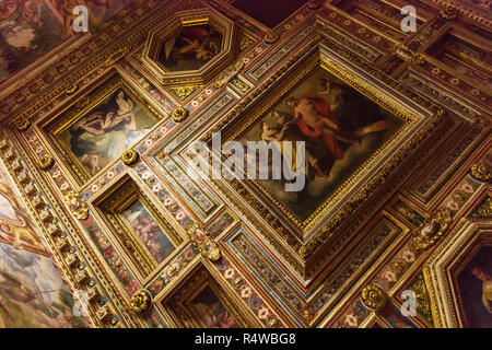 Villa Medici ceiling paintings, Rome, Italy - Stock Image