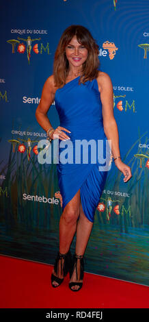 London, United Kingdom. 16 January 2019. Lizzie Cundy arrives for the red carpet premiere of Cirque Du Soleil's 'Totem' held at The Royal Albert Hall. Credit: Peter Manning/Alamy Live News - Stock Image