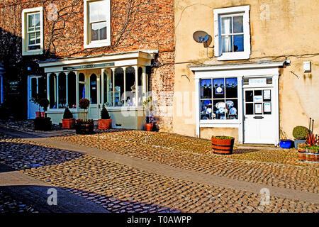 Shops, Middleham, North Yorkshire, England - Stock Image