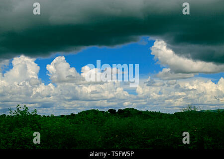 clouds,jagadalpur,chattisghar,india - Stock Image
