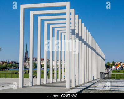 Art, installation, park at castle Schwerin, Germany - Stock Image