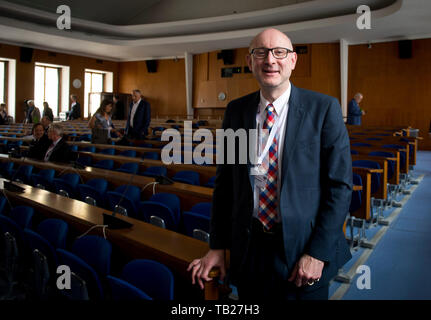 Prague, Czech Republic. 29th May, 2019. Former CIA security chief Robert Bigman attends the two-day 20th international Information Security Summit (IS2), held by TATE International, publishing Data Security Management journal, which starts at Karolinum grand hall in Prague, Czech Republic, on Wednesday, May 29, 2019. Credit: Katerina Sulova/CTK Photo/Alamy Live News - Stock Image