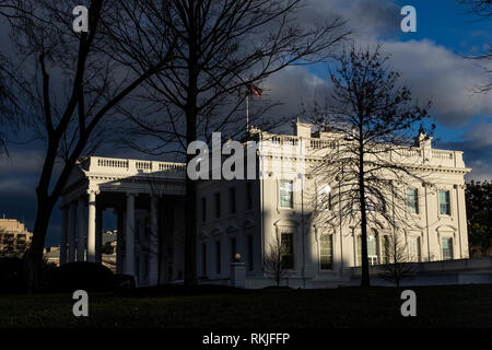 The White House in Washington, D.C. on January 24, 2019. - Stock Image