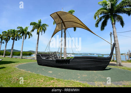 Musical ship on the waterfront, Cooktown, Far North Queensland, QLD, FNQ, Australia - Stock Image