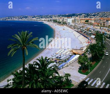 France Nice beach Promenade des Anglais - Stock Image