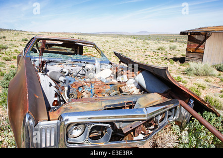 Route 66, Old disused car, USA, Arizona - Stock Image