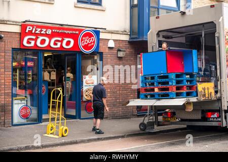 Pizza GoGo takeaway restaurant, Bristol, UK - Stock Image
