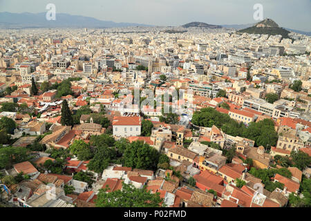 Aerial top view over Athens from Acropolis - Stock Image