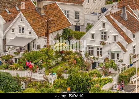 Old Town Gardens, Stavanger, Norway - Stock Image