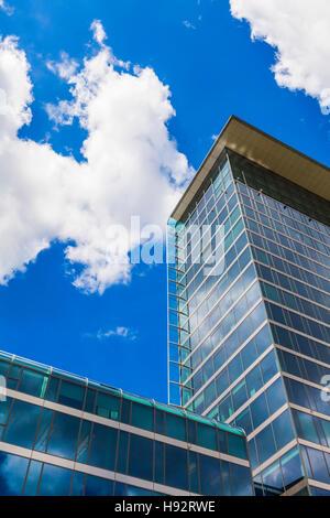MODERN OFFICE BUILDING, SCHWABING DISTRICT, MUNICH, BAVARIA, GERMANY - Stock Image