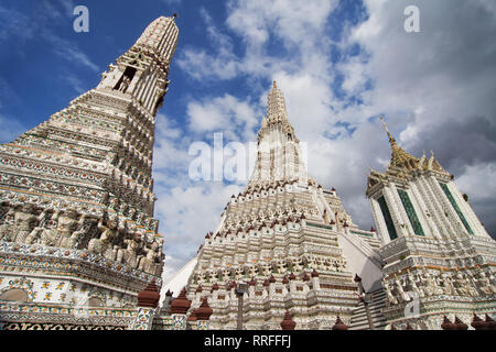 Wat Arun, the Temple of Dawn in Bangkok, Thailand. - Stock Image