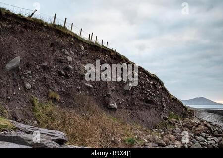 Coastal erosion, Waterville County Kerry, Ireland - Stock Image
