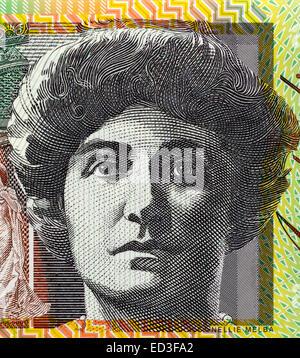 Dame Nellie Melba (1861-1931) on 100 Dollars 1996 banknote from Australia. Australian operatic soprano. - Stock Image