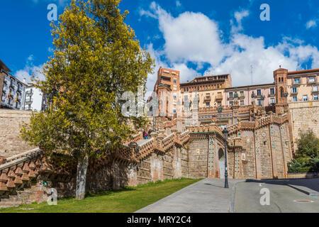 Ovalo Stairway, Teruel, Aragon, Spain, Europe - Stock Image