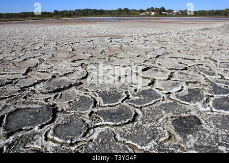Salt Pans, Colonia de Sant Jordi, Mallorca - Stock Image