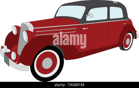 old timer vintage car - vector - Stock Image