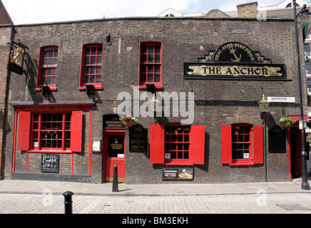 The Anchor Pub South Bank London - Stock Image