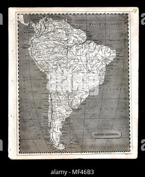 1804 Arrowsmith Map South America Brazil Colombia Argentina Peru Bolivia Ecuador Chili Venezuela - Stock Image