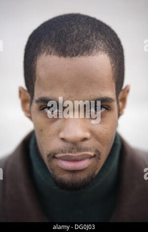 Portrait of a young African-American man, Charleston, South Carolina, USA - Stock Image