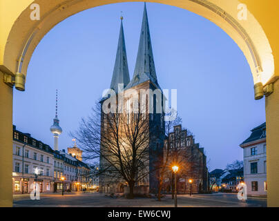 Nicolai District, St. Nichloas Church , Berlin - Stock Image