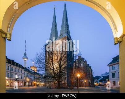 Nicolai District, St. Nichloas Church , Berlin - Stock Image