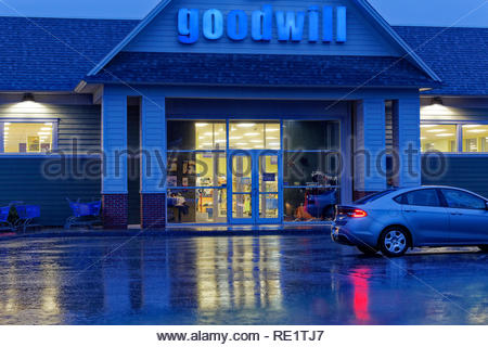 Goodwill store in Rockland, Maine, USA - Stock Image