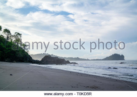 Early morning on a beach on the coast of costa rica - Stock Image