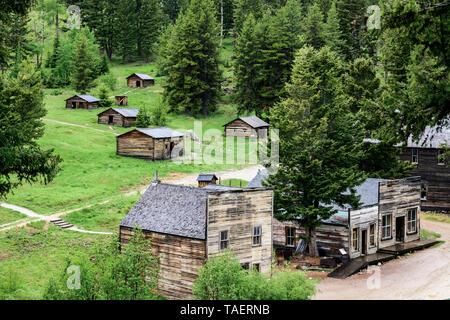 Garnet Ghost Town in Missoula, Montana USA. - Stock Image