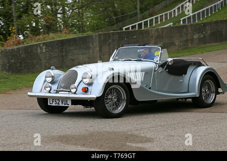 Morgan Plus 8 4.0 (2002), British Marques Day, 28 April 2019, Brooklands Museum, Weybridge, Surrey, England, Great Britain, UK, Europe - Stock Image