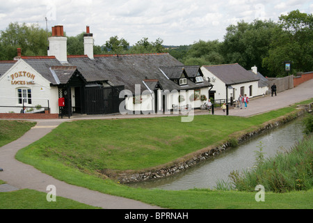 Foxton Locks Inn, Leicestershire, UK. - Stock Image