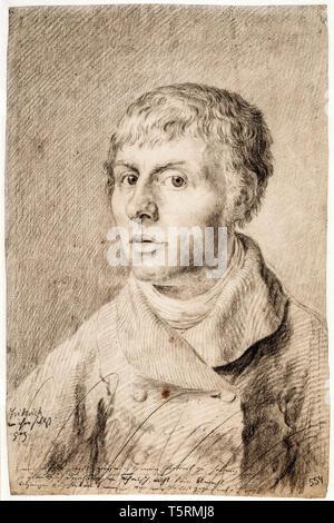 Caspar David Friedrich (1774–1840), Self portrait, drawing 1800 - Stock Image