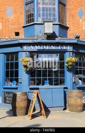 Camden Eye pub at Camden Town, in north London, UK - Stock Image