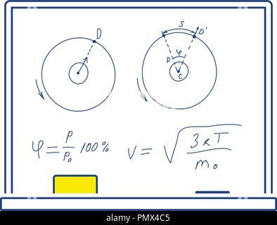 Icon of Classroom blackboard. Thin line design. Vector illustration. - Stock Image